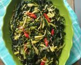 Sayur tumis bunga pepaya daun singkong teri (no pahit) langkah memasak 11 foto