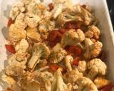 Harissa cod with spiced cauliflower and salsa