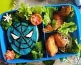 Bento karakter Spiderman langkah memasak 5 foto
