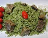 Green rice (Zamarod pilaf) recipe step 7 photo