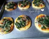 Pizza Mini Bayam langkah memasak 6 foto