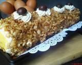 Mocca Nougat Roll Cake langkah memasak 6 foto