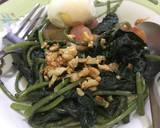 Cah daun ubi kebon sendiri langkah memasak 5 foto