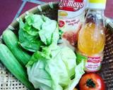 Xoài xanh chấm mắm ruốc thịt ba chỉ + Kimbap + khoai tây chiên + salad bước làm 2 hình
