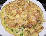 Ham and pea frittata recipe step 5 photo