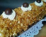 Mocca Nougat Roll Cake langkah memasak 8 foto
