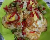 Telur ceplok cabai bawang langkah memasak 5 foto