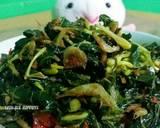 Tumis Bunga, Daun Pepaya dan Udang Rebon. Tips Tanpa pahit langkah memasak 4 foto