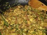 Foto del paso 6 de la receta Revuelto de espárragos trigueros, champiñones, bacon y chorizo