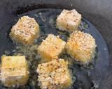 Pea noodle Stir fried with crispy mustard and turmeric tofu recipe step 4 photo