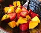 Refreshing Strawberry & Mango Salad with Mint & Lime recipe step 3 photo