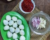Telur Puyuh Balado langkah memasak 1 foto