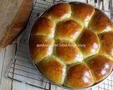 Roti Sobek Bunga Telang langkah memasak 16 foto