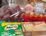 Tiramisu Grape Milo langkah memasak 1 foto