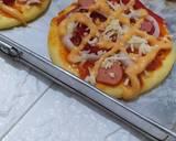 Pizza mini empuk langkah memasak 5 foto