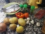 Foto del paso 1 de la receta Trucha rellena de jamón con guarnición