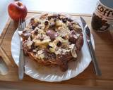 Super creamy chocolate Waffle with almond and banana langkah memasak 3 foto