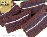 Brownies Kukus Kopi Lapis Keju langkah memasak 8 foto