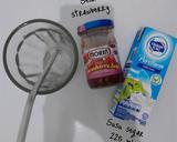 Susu segar selai strawberry langkah memasak 1 foto