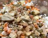 Sałatka jarzynowa z warzyw z rosołu krok przepisu 2 zdjęcie