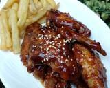 Honey Chicken Wings With Potato Fries langkah memasak 11 foto
