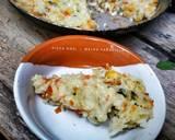 Pizza Nasi langkah memasak 6 foto