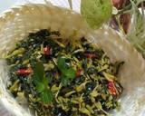 Tumis Bunga Pepaya Daun Singkong & tips menghilangkan pahitnya langkah memasak 5 foto