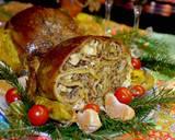 Курица, фаршированная блинами с начинкой - 6 фото