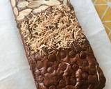 Fudge Brownies Trio Chocolate (Bensdrop, Callebaut, Hersheys) langkah memasak 8 foto
