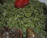 Green rice (Zamarod pilaf) recipe step 8 photo