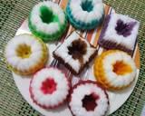 Putu ayu rainbow ala fe' #seninsemangat langkah memasak 7 foto