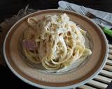 Fettuccine Carbonara ala sayah #pr_pasta langkah memasak 6 foto