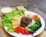 Bistik dan Selada Banjar langkah memasak 13 foto