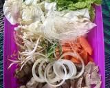 Shabu Shabu Sayuran langkah memasak 1 foto