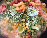Prawn, Pineapple with Vegetables Sticky Stir Fry Rice recipe step 2 photo
