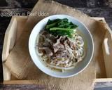 Beef Udon langkah memasak 5 foto