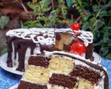 Steamed Checkerboard Cake langkah memasak 12 foto