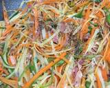 Colorful Vegetables fry with Bacon recipe step 2 photo