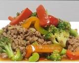 Ca Brokoli Daging Cincang Saus Tiram langkah memasak 6 foto