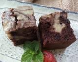 Brownies Marmer Keju langkah memasak 8 foto