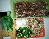 Pokcoy siram daging dan jamur kancing teriyaki langkah memasak 3 foto