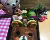 Hot cake rilakkuma bento (bekal anak) langkah memasak 6 foto