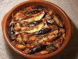 Foto del paso 27 de la receta Cazuela de jureles al horno con alcachofas y berenjenas
