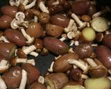 Red russet potatoes with mushrooms and speck recipe step 1 photo