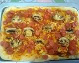 Pizza lembut, hanya ulen 3 menit langkah memasak 8 foto