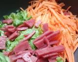 Salad sayur & beef langkah memasak 2 foto