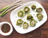 Spinach and Cottage Cheese Momos with Honey Chilli dip recipe step 17 photo