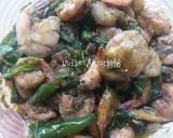 Udang Tumis Cabe Hijau langkah memasak 3 foto
