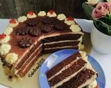 Tiramisu Birthday Cake langkah memasak 13 foto