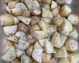 Greek burgers with potatoes